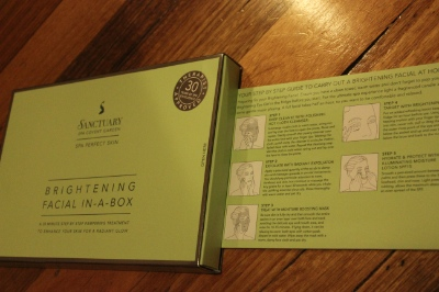Sanctuary Day Spa Brightening Facial In A Box Review